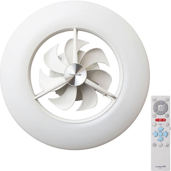 天井空間を有効利用し、年間を通して使用できる新しいデザインのシーリングライト。調光調色機能を備え、お部屋の空気循環まで合わせてできるサーキュレーターとの一体型です。 ドウシシャ DCC-12CM Luminous ルミナス [ LEDシーリングサーキュレーター (~12畳用 / 調光・調色) ]