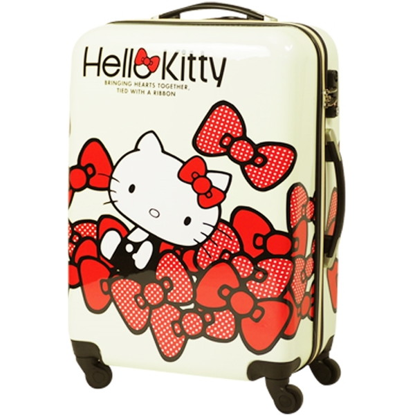 SIS HK-SUC-01-M2 ホワイト Hello Kitty(ハローキティ) [スーツケース(Mサイズ・60L)]