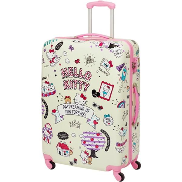 SIS HK-SUC-01-L1 ベージュ Hello Kitty(ハローキティ) [4輪スーツケース(Lサイズ・90L)]