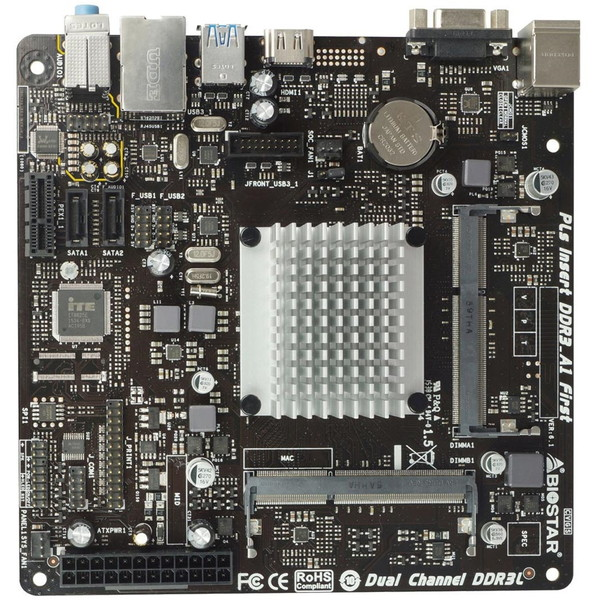 BIOSTAR J3060NH [Mini-ITXマザーボード(Intel CPU「Celeron J3060」搭載)]
