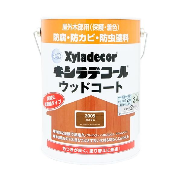 カンペハピオ 水性キシラデコール ウッドコート カスタニ 3.4L