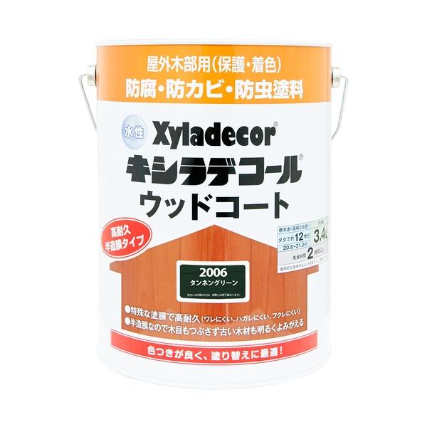 カンペハピオ 水性キシラデコール ウッドコート タンネングリーン 3.4L