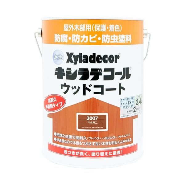 カンペハピオ 水性キシラデコール ウッドコート マホガニ 3.4L