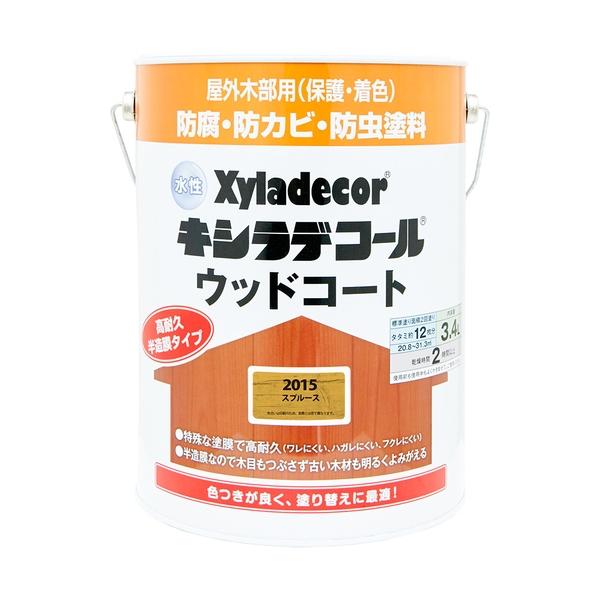 カンペハピオ 水性キシラデコール ウッドコート スプルース 3.4L