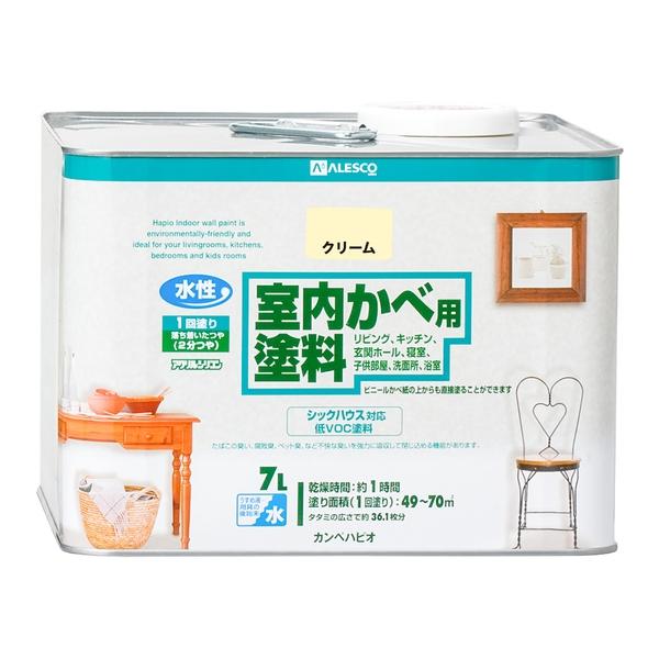 カンペハピオ 室内かべ用塗料 クリーム 7L
