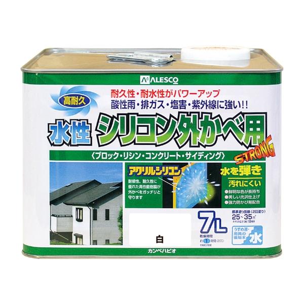 カンペハピオ 水性シリコン外かべ用 白 7L