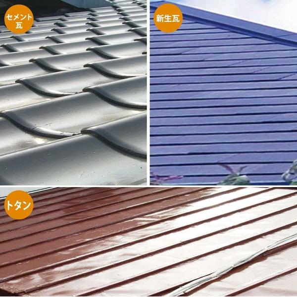 カンペハピオ 水性シリコン遮熱屋根用 グレー 7K