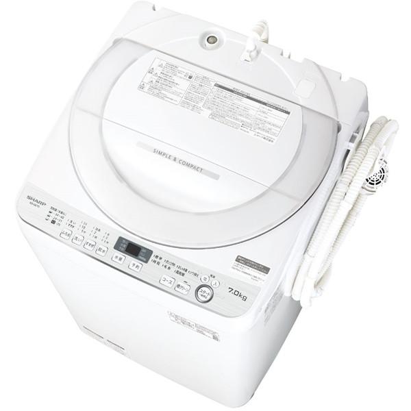 SHARP ES-GE7D-W ホワイト系 [全自動洗濯機(7.0kg)]