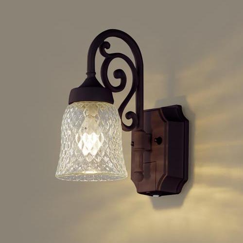 PANASONIC LGWC85203AK ダークブラウンメタリック [LEDポーチライト(電球色) 防雨型 センサ付]