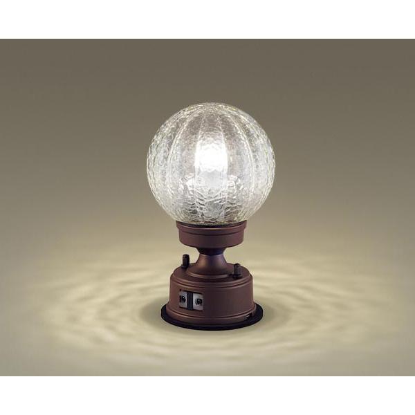 PANASONIC LGWJ56935AZ ダークブラウンメタリック [LED門柱灯(電球色) 防雨型 センサ付]