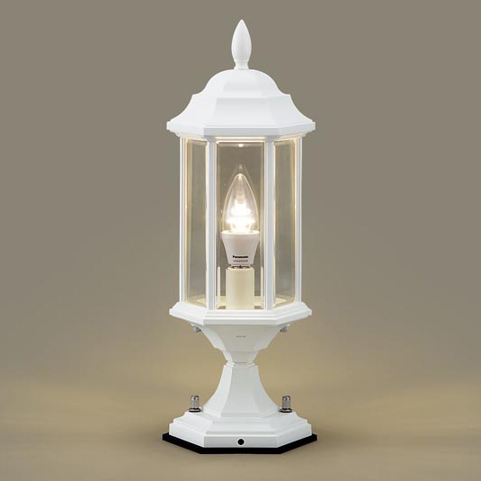PANASONIC LGW56905W ホワイト [LED門柱灯(電球色) 防雨型]