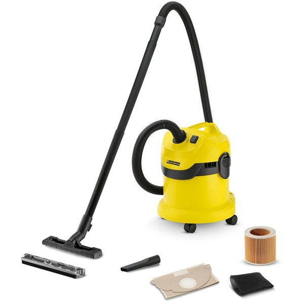 【送料無料】KARCHER(ケルヒャー) WD 2 [乾湿両用バキュームクリーナー] 液体も乾いたゴミも吸い取れる ハイパワー ガレージ 玄関 ベランダ 駐車場 車 清掃 木くず