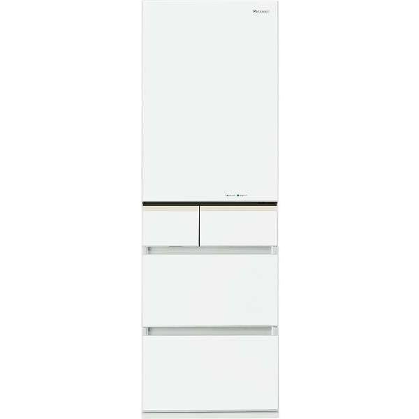 【送料無料】PANASONIC NR-E413PV-W スノーホワイト PVタイプ [冷蔵庫 (406L・右開き)]