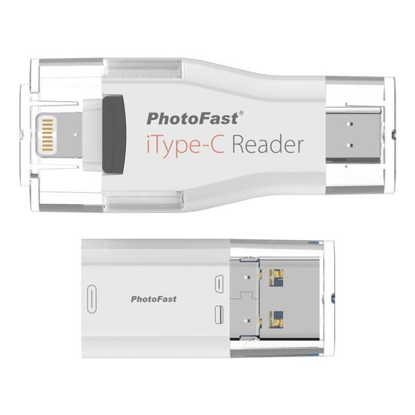 【送料無料】PhotoFast iType-C Reader ホワイト