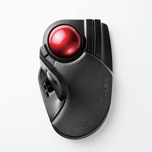 エレコム トラックボールマウス 8ボタン 人差し指 中指 LLサイズ チルトホイール 大玉 リストレスト 2.4GHz 無線 高耐久スイッチ 半年保証 ブラック(黒) M-HT1DRBK
