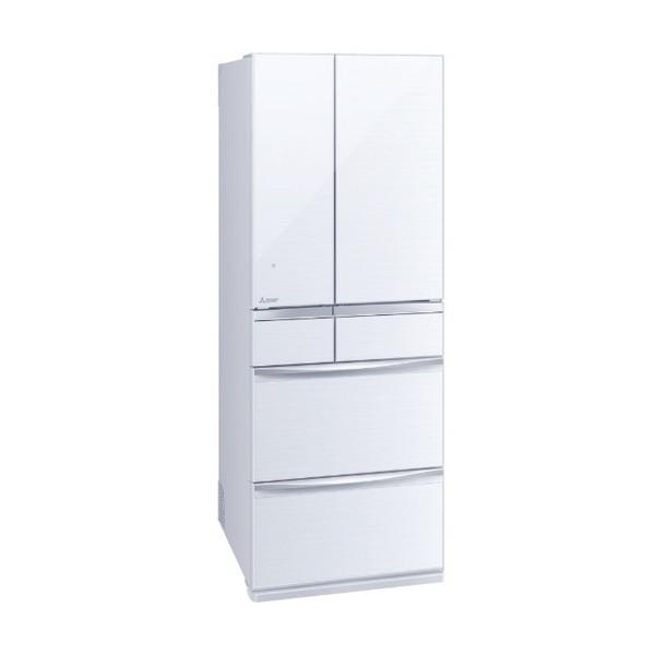 幅68.5cm 野菜室が真ん中で 信憑 出し入れしやすい 返品交換不可 MITSUBISHI MR-MX57F-W クリスタルホワイト 冷蔵庫 代引き不可 572L フレンチドア 置けるスマート大容量 MXシリーズ