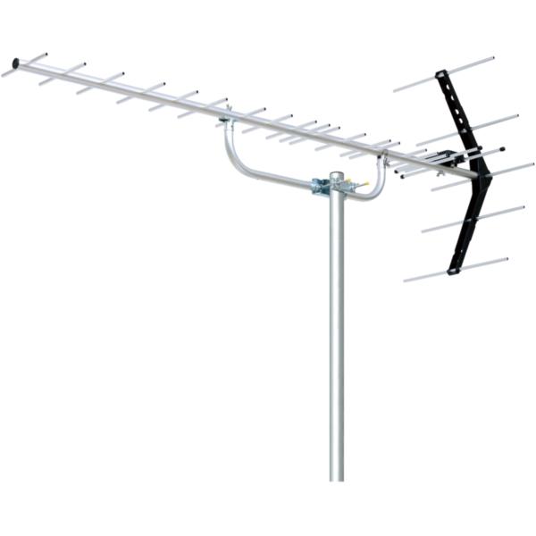 オールチャンネル 13ch.~52ch. 対応の20素子 中 弱電界用 地デジアンテナです 組立が簡単で 加工不要の防水キャップを採用 祝日 お洒落 20素子 UHFアンテナ メーカー直送 DXアンテナ 地デジ 八木式 弱電界地域用 UA20
