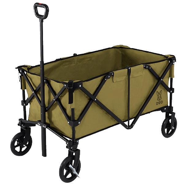 アルミキャリーワゴン キャリーカート DOD C2-534-KH カーキ/ブラック キャンプ アウトドア バーベキュー 運動会 フェス レジャー BBQ