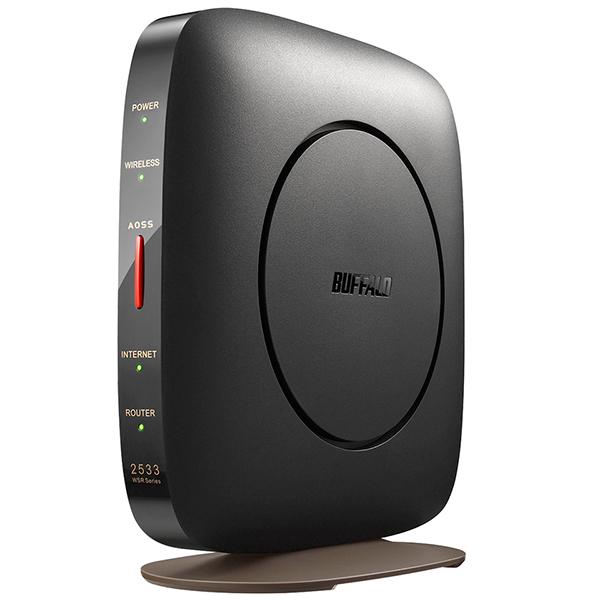 BUFFALO WSR-2533DHP3-BK ブラック AirStation [無線LANルーター 親機単体(11ac対応 1733+800Mbps)]