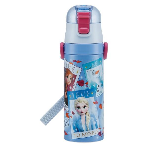 ダイレクトで飲むそのまま飲めるキャップユニット スケーター スポーツボトル 子供用 ステンレス 水筒 アナと雪の女王 2 ディズニー 470ml SDC4