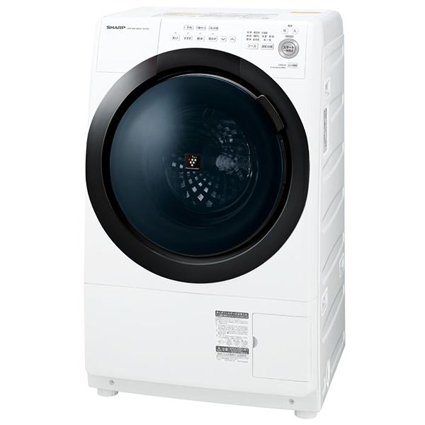 SHARP ES-S7E-WL ホワイト系 [ななめ型ドラム式洗濯乾燥機 (洗濯7.0kg/乾燥3.5kg) 左開き]【代引き不可】