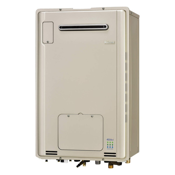 Rinnai RUFH-E2405AW2-3(A)-LP シャンパンメタリック エコジョーズ [ガス給湯暖房用熱源機(プロパンガス用・24号・フルオート・屋外壁掛形)]
