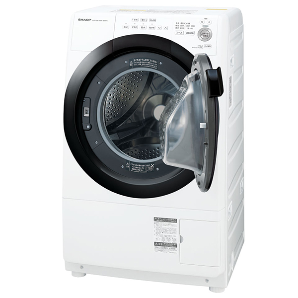 SHARP ES-S7E-WR ホワイト系 [ドラム式洗濯乾燥機(洗濯7kg/乾燥3.5kg) 右開き]【代引き不可】