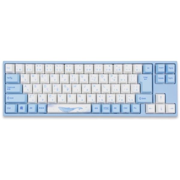 Varmilo アミロ 73 Sea Melody JIS Keyboard 茶軸 [USB /有線] ゲーミングキーボード メカニカルキーボード (日本語配列Fnキーレス・CHERRY MX 茶軸) キーキャップ PBT製 ゲーム ゲーミング コンパクト