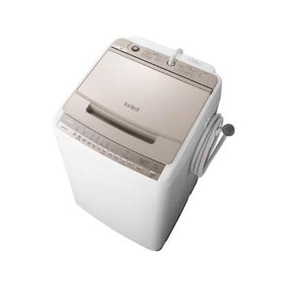 日立 BW-V80F(N) シャンパン ビートウォッシュ [簡易乾燥機能付洗濯機 (8.0kg)]