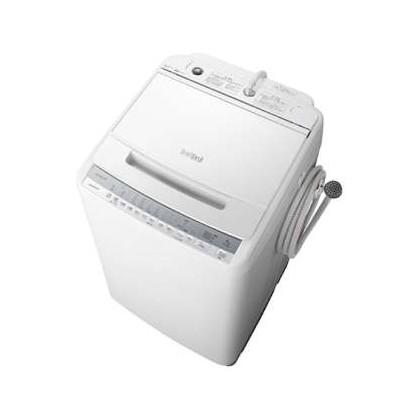 日立 BW-V80F(W) ホワイト ビートウォッシュ [簡易乾燥機能付洗濯機 (8.0kg)]
