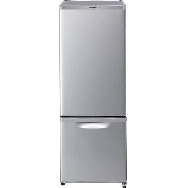PANASONIC NR-B17AW-S シルバー 小型 新生活 ひとり暮らし 一人暮らし 単身 まとめ買い 少し大きめ冷凍室搭載 ファン冷却式 抗菌 食品が見やすいLED照明 お手入れ簡単ガラストレイ [冷蔵庫 (168L・右開き)]