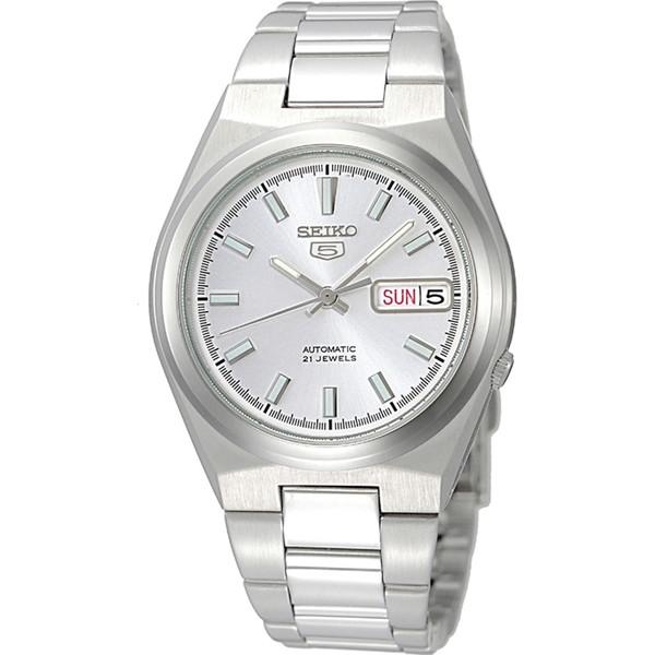 【送料無料】SEIKO SNKC49J ホワイト×シルバー [自動巻き腕時計 (メンズウオッチ)] 【並行輸入品】