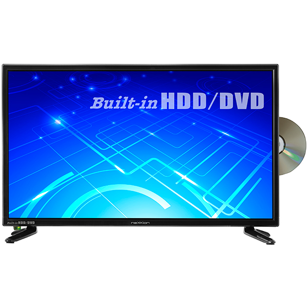 nexxion ハイビジョン液晶テレビ 24V型 地上デジタル ※BS・CS非対応 DVDプレーヤー内蔵 HDD搭載 24インチ 24型 TV テレビ 一人暮らし 子供部屋 小型 モニター リモートワーク 在宅勤務 在宅ワーク テレワーク FT-A2418DHB