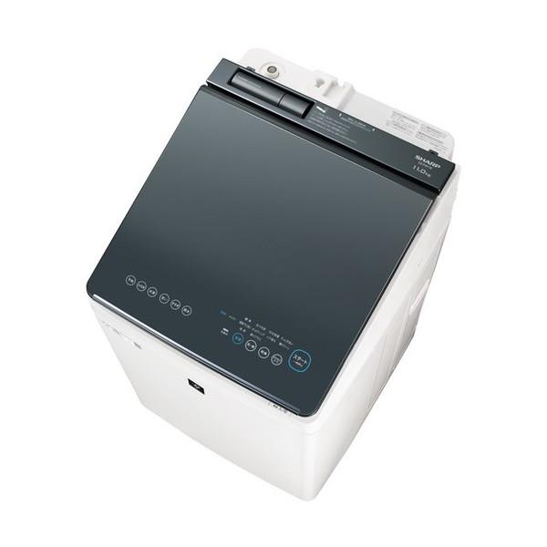 SHARP ES-PW11E シルバー系 [洗濯乾燥機(洗濯11.0kg/乾燥6.0kg)]【代引き不可】