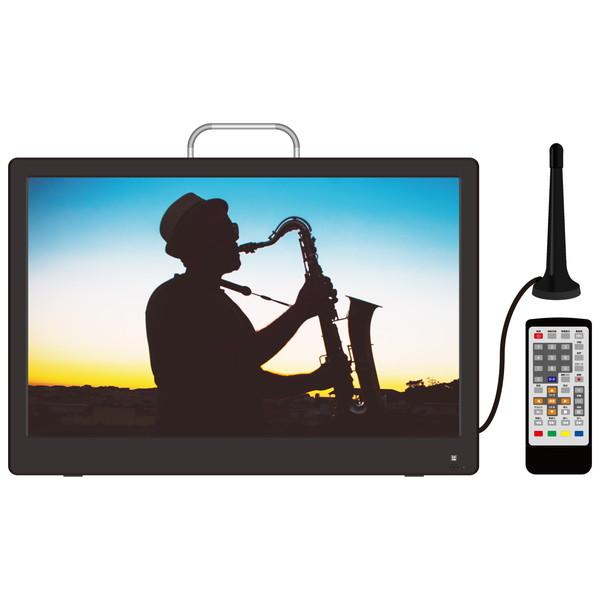 ダイアモンドヘッド OVER TIME ポータブル液晶テレビ 14.1型 地デジ録画機能付き 携帯テレビ 小型 持ち運び 大画面 車載 ドライブ 14.1インチ ワンセグ フルセグ LEDバックライト OT-PT141AK