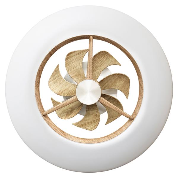 激安通販ショッピング 天井空間を有効利用し年間を通して使用できる新しいデザインのシーリングライトの木目調デザイン ドウシシャ DCC-12CMLW 木目調 LEDシーリングサーキュレーター 流行 ~12畳 調光 調色 リモコン付き