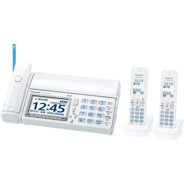 【送料無料】PANASONIC KX-PD715DW-W ホワイト おたっくす [デジタルコードレス普通紙ファクス(子機2台付き)]