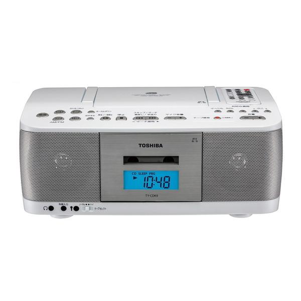 【送料無料】東芝 TY-CDK9(W) ホワイト [CDラジオカセットレコーダー(ワイドFM対応)]