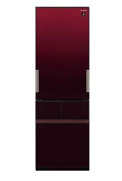 【送料無料】冷蔵庫 シャープ(SHARP) プラズマクラスター SJ-GT42D-R グラデーションレッド (415L・左右フリー) どっちもドア メガフリーザー 段々スパイスラック 調味料類をスッキリ整理できて取り出しやすい 【代引き・後払い決済不可】【離島配送不可】