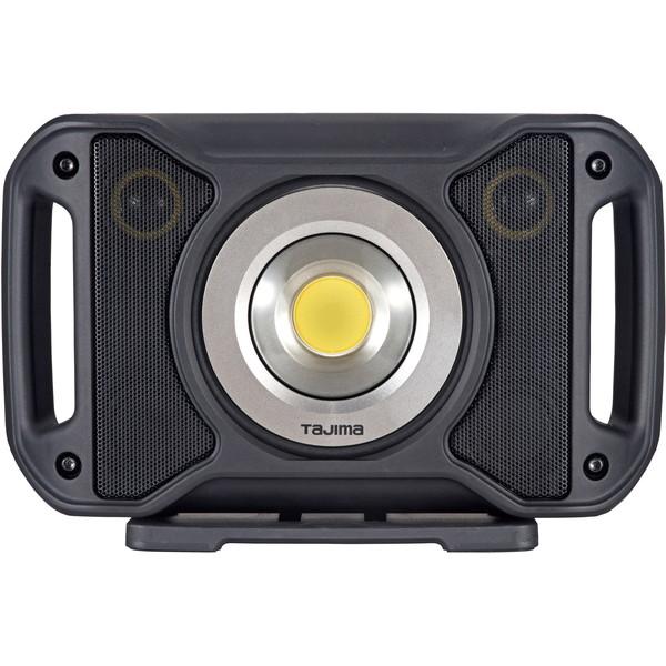 【送料無料】タジマ R401 スピーカー搭載 LEDワークライト Bluetooth®対応 音楽再生 ラジオ スマホ充電可能 モバイルバッテリー 防じん 防水(IP65)