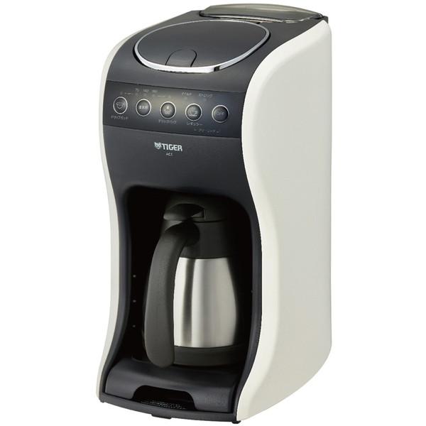 本店 シーンに合わせて選べる 3WAYコーヒーメーカー TIGER ACT-E040 クリームホワイト ~4杯 新色追加して再販 コーヒーメーカー