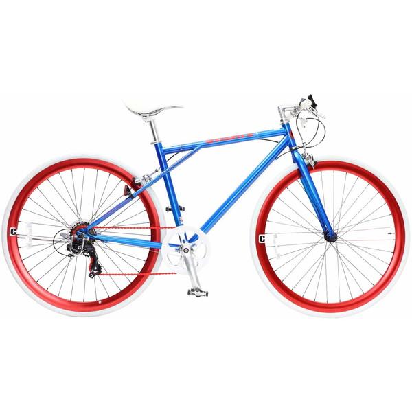 【送料無料】TOP ONE C210-460-BL ブルー CREATE [クロスバイク(700×28C・フレーム460mm・6段変速)]【同梱配送不可】【代引き不可】【沖縄・離島配送不可】