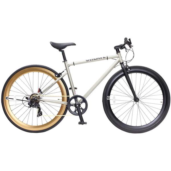 【送料無料】TOP ONE C310-460-CGD シャンパンゴールド CREATE [クロスバイク(700×28C・フレーム460mm・7段変速)]【同梱配送不可】【代引き不可】【沖縄・離島配送不可】