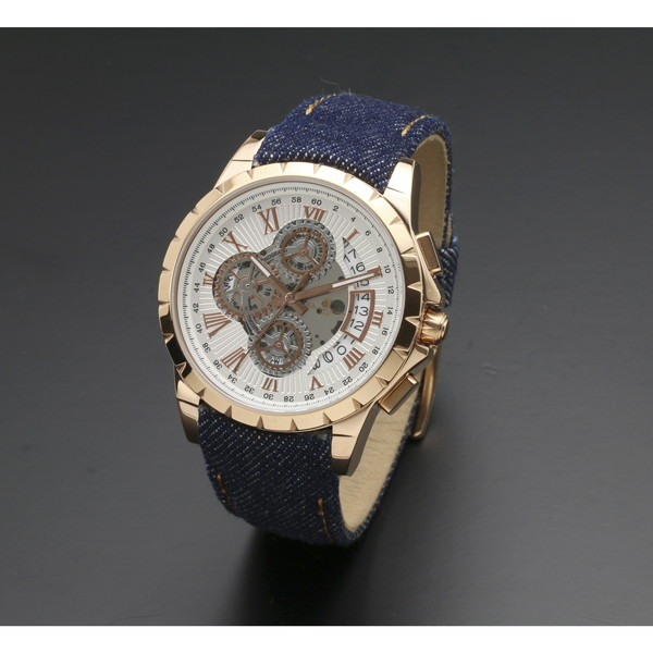 Salvatore Marra SM13119D-PGWH/BL [腕時計 (クオーツ・メンズ)]