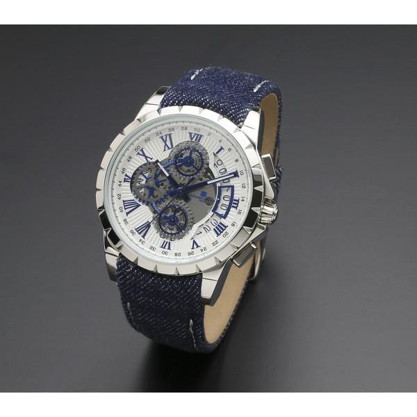 【送料無料】Salvatore Marra SM13119D-SSWHBL/BL [腕時計 (クオーツ・メンズ)]