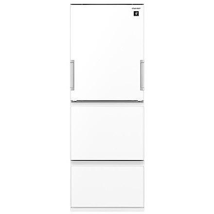 【送料無料】【標準設置料金込】 冷蔵庫 シャープ sharp SHARP プラズマクラスター どっちもドア 3ドア 356L SJ-GW36D-W ピュアホワイト ナノ低温脱臭触媒 温度変化を抑えて鮮度を守る新鮮冷凍 幅600×奥行660×高さ1690 【代引き・後払い決済不可】【離島配送不可】