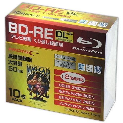 磁気研究所 HDBDREDL260NP10SC [HIDISC BD-RE DL 録画用 1-2倍速くり返しデジタル放送対応 (10枚・スリムケース入り)]