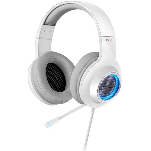【送料無料】Edifier ED-G4WH ホワイト [ゲーミングヘッドセット(バイブレーション機能/フレキシブルマイク搭載)]
