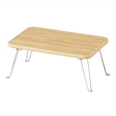 ショップ 使用しない時は 脚を畳んで収納できます パール金属 ナチュラル N-8658 割引も実施中 木目調テーブル4530