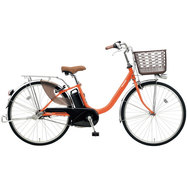 【送料無料】PANASONIC BE-ELLU432-K ラセットオレンジ ビビ・LU [電動自転車(24インチ・内装3段変速)]【同梱配送不可】【代引き不可】【本州以外配送不可】